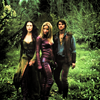 goodbyebird: Legend of the Seeker: Cara, Richard and Kahlan in the woods, looking badass if I may say so. (LoTS Trio)