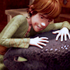 teefless: Hiccup leaning on Toothless' head (The whole world fits inside of your arms)