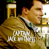 onlysayinghello: ([silly] captain jack hotness)