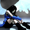 therisingsun: FFVIII, Rinoa, wings, hugging knees (Hugging knees)