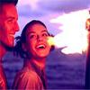 secondsilk: Miranda and Felix, lit by flame-light (Joy)