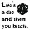 elf: Life's a die, and then you bitch. (Gamer Geek)