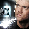 paian: Daniel Jackson with picture of his face in glowy square (daniel glowy by cityofroses)