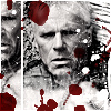 paian: Jack O'Neill with splatter suggesting blood or bullet holes (jack bulletholes by _spuk_)