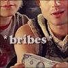 hsapiens: (B/J -- *bribes*)