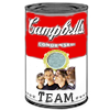 paian: Campbell's soup can with the word 'team' for the flavor (team soup by hsapiens)