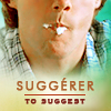 paian: Daniel with white ice-cream smear on mouth, caption 'suggerer: to suggest' (suggest by avidrosette)