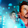 anaraine: Tony Stark surrounded by a hologram of the atomic structure of vibranium. ([marvel] science rules)