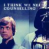 """xnera: Icon captioned """"I think we need counselling."""" (I think we need counseling., Star Wars)"""