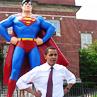 xnera: Icon of Barack Obama in a Superman pose. (Super Obama!)