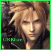 "xnera: Icon of Cloud from Final Fantasy 7, captioned ""GRR face"". (GRRface)"