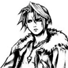 xnera: Icon of Squall from Final Fantasy 8, drawn in ink. (squall, ffviii)