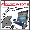 "afuna: Cartoon sheep holding a computer, onscreen is ""dw"" in binary. Thought bubble contains the Dreamwidth logo (programming)"