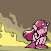 callistra: Fuschia from Sinfest crying her heart out next to Hell's flames (Lemon Meringe Pie Icon)