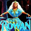 azurelunatic: From the cover of Anne McCaffrey's The Rowan: slender white-haired white woman in an eye-searing turquoise & lime gown (telepathic, rowan)
