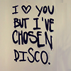 "orm: the graffiti'd text ""I (heart) you but I've chosen disco"" (<3: but i've chosen disco)"