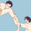 langwidere: watanuki and doumeki from xxxholic linking arms (death becomes you)