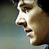 infinitelystranger: Close-up on Sherlock's face, smiling slightly. (slight smile)