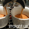 "darkemeralds: Photo of espresso with caption ""Straight Up"" (Espresso, Coffee)"
