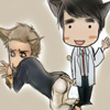 damigella: House and Wilson as chibis with cat ears and tails (cat h/w)