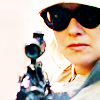 dmarley: Sam Carter aiming a gun and wearing sunglasses (SG1: Sam with sunglasses and gun)