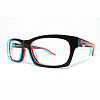 emjaynz: a slightly blurred image of thick-framed glasses (glasses)
