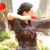 metonymy: Susan in armor, drawing back an arrow on her bow. (susan: ready aim fire)