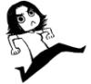 renface: Cartoon drawing of myself kicking the air. () (Default)