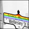littlemousling: Street sign from Toronto's gay village (Church and Wellesley)