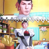 renuki: Spock rocking with the ribbons. Mehehehe! ([Star Trek] Spock is more prettier than )