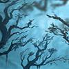 asphodelrain: Spooky trees at twilight (trees)
