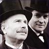 dorinda: Sherlock Holmes smiles fondly, unseen, at Watson. (holmes_watson_01)