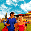 shopfront: Source: Smallville. Chloe and Clark walking away from the Smallville High football field on a sunny day. (SV - once was sunshine and happy days)