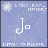 tinyjo: LJ support kitten crusader badge (_support)