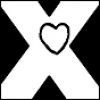 xtina: An X with a heart in the center. (x.heart, gravatar)