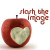 slashtheimage: Slash the Image, carved apple graphic (Default)