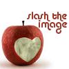 slashtheimage: Slash the Image, carved apple graphic (StI apple)