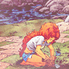 cloud_wolf: starfire is tending her garden (gardening is fun)