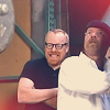 liz_marcs: Adam cracking up while Jamie looks worried (Mythbusters_Jamie_Adam_Anticipation)
