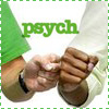 pocketmouse: Shawn and Gus fistbump (psych)