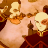 sohotrightnow: Zhao suspiciously eyeing a seated Zuko. ([atla] don't run back inside darling)