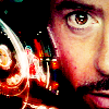 beccaelizabeth: Tony Stark, Iron Man, face with HUD lights (Tony HUD)