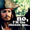 starrypawz: Image of a disappointed Jack Sparrow with the text 'No, I'M the chosen one' (Default)