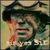 """pepper: Jack O'Neill in camouflage, caption """"Sir yes SIR"""" (Sir yes SIR)"""