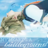 kitefullofkoi: Sora from Kingdom Hearts falling backwards. text: My heart's a battleground (kh: battleground)