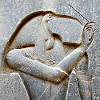 quarrel: Engraving of Thoth from the Luxor Temple. (politics)