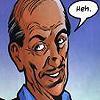 "ravenous_raven: Alfred, Batman's butler, saying ""Heh."" (Alfred ""Heh"")"