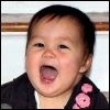 kate_nepveu: toddler with wide-open laughing mouth (SteelyKid - LOL (2009-09))