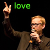toft: Adam lectures; text says 'love' (mythbusters_adamlove)