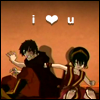kaigou: Toph punches Zuko. (2 pigtails and inkwell love)